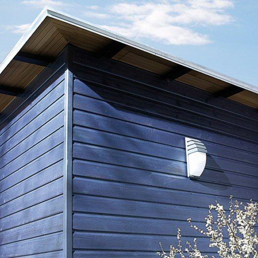 Façades maison individuelle réalisées avec le bardage Métal Bleu Canon