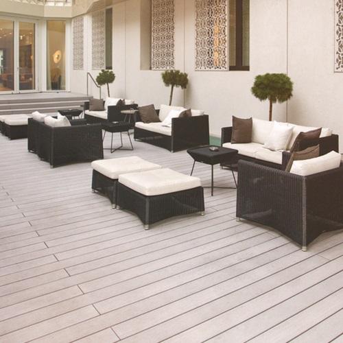 Terrasse bois composite Twinfinish teinte CEDAR