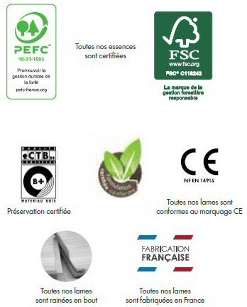 certification Sivalbp Bardage saturé Elegance